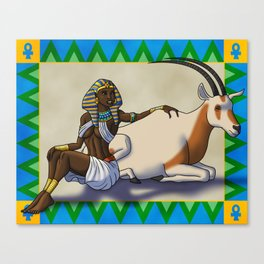 The Pharaoh and the Oryx Canvas Print