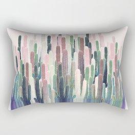 Cacti Stripe Pastel Rectangular Pillow