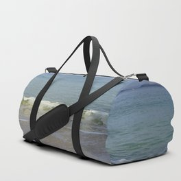 Turquoise Winter Waves and Sky Duffle Bag