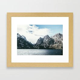 Jackson Hole Mountains Framed Art Print
