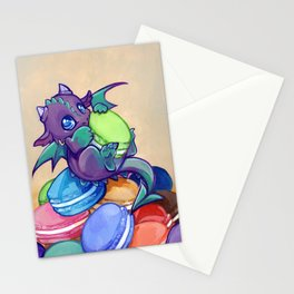 Macaron hoarder Stationery Cards