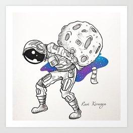 Space Beneath Us - Cruel Art Print