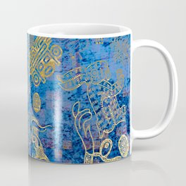 Mexican gold on blue Coffee Mug