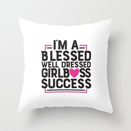 Girl Boss Success Throw Pillow