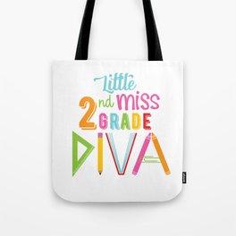 Little Miss 2nd Grade Diva Tote Bag