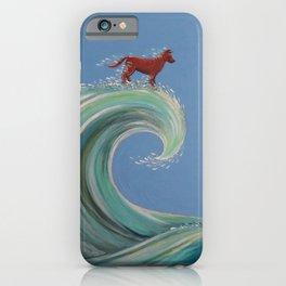 Surfing Kelpie iPhone Case