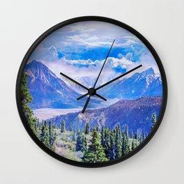 Neverland mountains Wall Clock