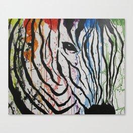 Splash of Zebra Canvas Print