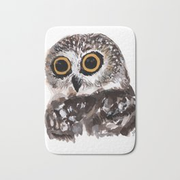 OWL painting Bath Mat