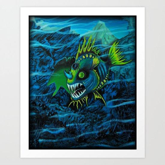 Unexplored Ocean Art Print