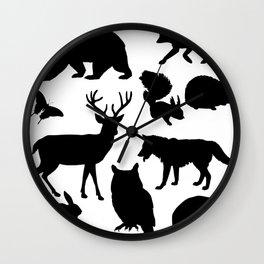 Animal Collage 4 Wall Clock