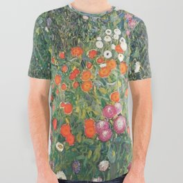 Gustav Klimt Flower Garden All Over Graphic Tee