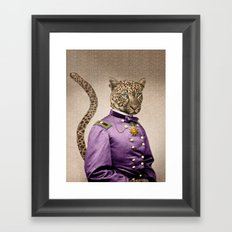 Grand Viceroy Leopold Leopard Framed Art Print