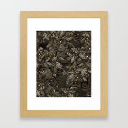 Fit In (autumn night colors) Framed Art Print