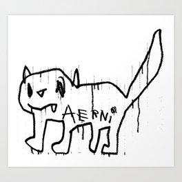 DEMON CAT II Art Print