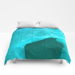 ghost in the swimming pool: aquagreen variations Comforters