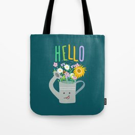 Happy Day- Watering Can Tote Bag