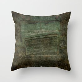 Busted and Broke Throw Pillow