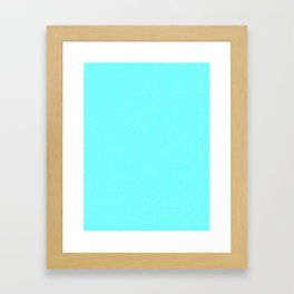 Dense Melange - White and Aqua Cyan Framed Art Print