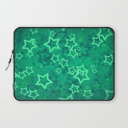 Green asterisks Laptop Sleeve