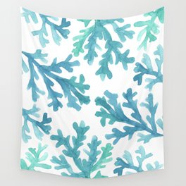 Blue Ombre Coral Wall Tapestry
