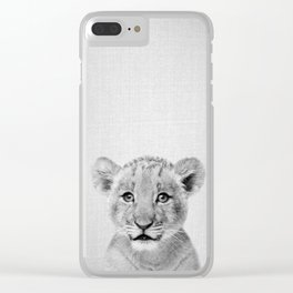 Baby Lion - Black & White Clear iPhone Case