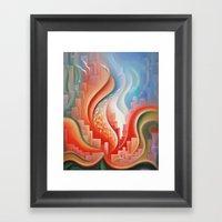 Hibiscus City Framed Art Print