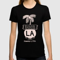 LA Womens Fitted Tee X-LARGE Black