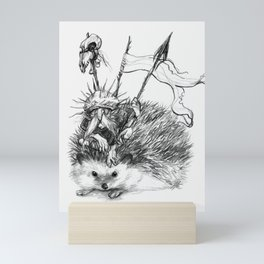 Gwaelog, hedgehog faery Mini Art Print