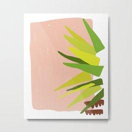 Geometric Palm Metal Print