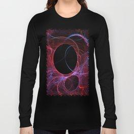 Neon Gravity Flame Fractal Long Sleeve T-shirt