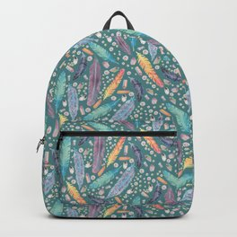 Gypsy Dreams on Teal Backpack