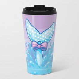 Polka Dot Whale Fluke Travel Mug