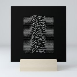 Forty lines of Unknown Pleasures Mini Art Print