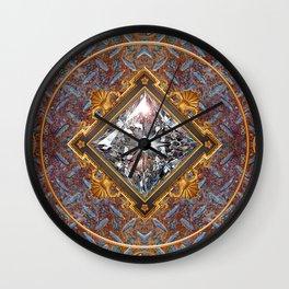 Diamond Cut Steel Wall Clock