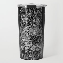 Prince Rupert's Shoe Tree - White on Black Travel Mug