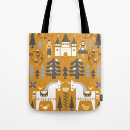Yellow + Gray Fairy Tale Tote Bag
