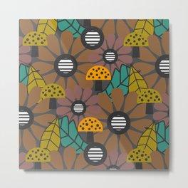 Autumn flowers, leaves and mushrooms Metal Print