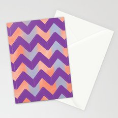 Pastel Chevrons Stationery Cards