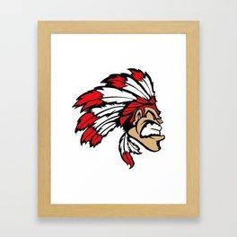 American indian man. Mascot. Kentucky. Framed Art Print