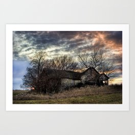 The Old Stone House Art Print