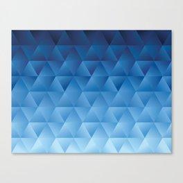 Watercolor polygon shapes pattern  Canvas Print