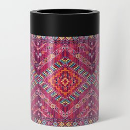 N118 - Pink Colored Oriental Traditional Bohemian Moroccan Artwork. Can Cooler