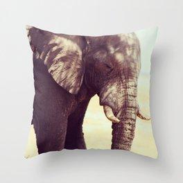 Etosha Elephant Throw Pillow