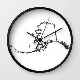 Alaska AK The Last Frontier State Wall Clock