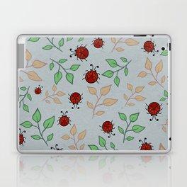 Lady Bug Leaf Pattern Art Laptop & iPad Skin