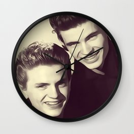 The Everly Brothers Wall Clock