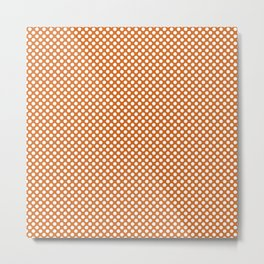 Autumn Maple and White Polka Dots Metal Print