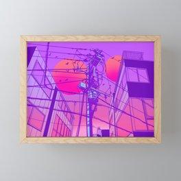 Anime Wires Framed Mini Art Print