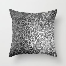Silver Vivid  Throw Pillow